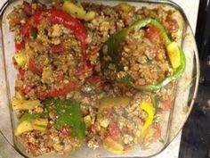 Ideal Protein Stuffed Peppers