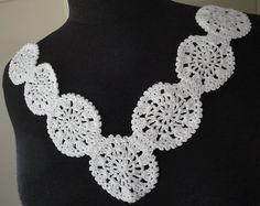 Elegant Handmade Cotton Neckline Embellishment by fabricdepo