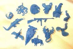 Jewelry Molds 67711: 13 Wax Patterns For Lost Wax Casting / #3 BUY IT NOW ONLY: $32.75