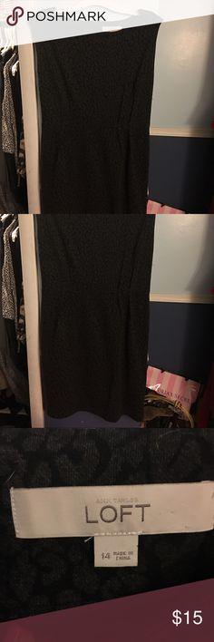 Anne Taylor Loft Dress Sz 14 Anne Taylor Loft Dress Sz 14 gray and black cheetah print LOFT Dresses