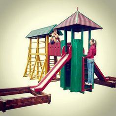 wooden tower playground for kids kosjeric western serbia www gardendesign