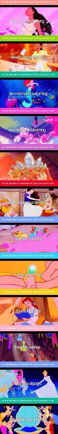 12 days of princesses.