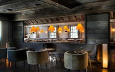 """The Inn At Pound Ridge, NY - """"Thomas Juul-Hansen designed the restaurant's interior with a modern yet rustic sensibility; zinc and marble accent stone and reclaimed wood."""""""