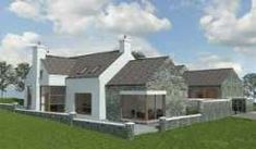 Paul McAlister Architects - The Barn Studio, Portadown, Northern Ireland… Rural House, Bungalow House Plans, Cottage House Plans, Cottage Ideas, Bungalow Exterior, Exterior Homes, Exterior Design, Modern Lake House, Modern Bungalow