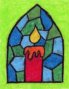 Stained Glass Candle