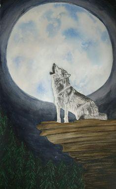 Wolf howling to the moon~~~ La Enredadera (taller de arte)