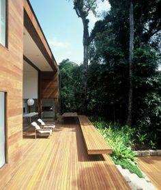 AC Iporanga / Studio Arthur Casas @studioarthurcas #facade #outdoor #exterior #patio #yard #green #nature #sitting #deck