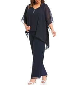 Shop for women plus dressy pants at Dillard's. Visit Dillard's to find clothing, accessories, shoes, cosmetics & more. The Style of Your Life. Plus Size Gowns, Plus Size Outfits, Swim Dress, Dress Up, Semi Formal Dresses For Wedding, Holiday Party Outfit, Party Outfits, Wedding Outfits, Wedding Gowns