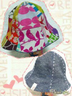 赤ちゃんチューリップハット 頭周り44、46cmの作り方 ソーイング 編み物・手芸・ソーイング   アトリエ 手芸レシピ16,000件!みんなで作る手芸やハンドメイド作品、雑貨の作り方ポータル