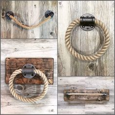 A unique rustic/nautical towel holder by Lulight! More