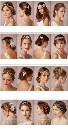Bridal hairstyles and headpieces inspiration.  A Wanaka Wedding (www.awanakawedding.co.nz).