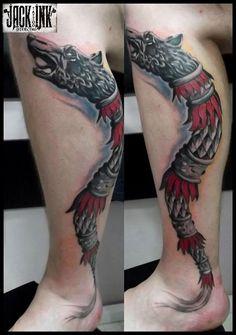 Small Tattoos, Cool Tattoos, Tatoos, Dragon Wolf, Cat Tattoo, Tattoo Designs Men, Tattoo Inspiration, Tatting, Skull