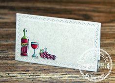 Card by:Lisa Lara.   SugarPea Designs stamp set: Wine Not?  SugarCut Dies: Zig Zag Stitched Rectangles.  Birthday Card