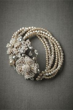 Anthropologie: Weddings. Seafoam Bracelet in The Bride Bridal Jewelry at BHLDN