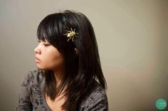 DIY Gilded Insect Hair Clips @ mintedstrawberry.blogspot.com