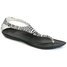 Hard to believe these little zebra sandals are from Crocs! So stylish! #shoes #sandals #crocs #rubbersole #uk #zebra