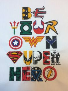 Be Your Own Super Hero Multi Machine by StringTheoryFabArt on Etsy