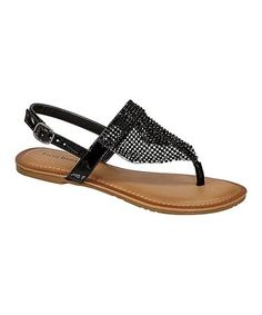 1d957c820bd Black Patent Limit Mesh Sandal - Women