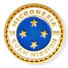 Micronesia Guam LDS Mission Pin