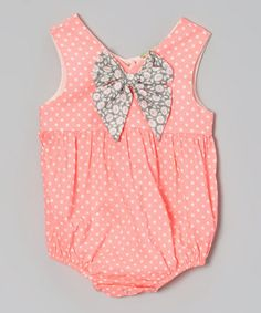 This Fluorescent Pink Bow Bubble Bodysuit - Infant is perfect! #zulilyfinds
