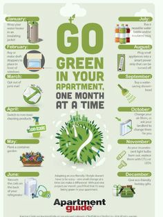 Make your apartment a little more green every month.