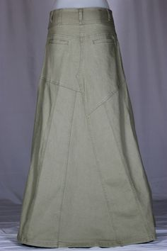 Victorian Grace Khaki Long Skirt                    is this name a coincidence???????????