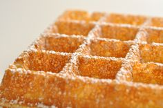 Original Bruxcelles Wafels are crispy on the outside and creamy smooth in the inside. Pastry Chef Eddy Van Damme gets it right!