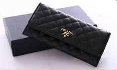 Prada Wallet Black golden logo