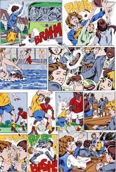 Grange Hill.    Mr Robinson, Mrs McClusky, Mr Griffiths, Togger Johnson, Mr Bronson, Zammo Maguire, Ziggy Greaves, Roland 'Rolly' Browning, Tucker Jenkins