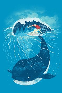 Whale Surf Wallpaper. #whale #surf #funny #iphone #wallpaper