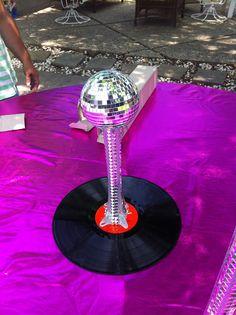 G's disco party table center piece