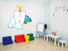 cik1521 Full Color Wall decal tooth smile pediatric dentist dental surgery Clinic Hospital