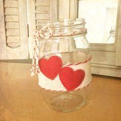 Valentine mason jars, valentines day mason jars, Valentines day decor, decorated mason jars, rustic valentine, shaby chic decor