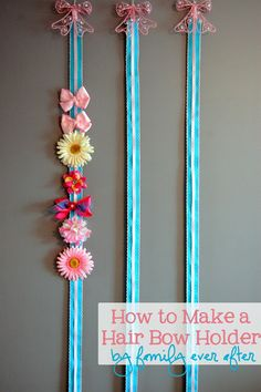 Family Ever After....: {Tutorial} How to Make a Bow Holder