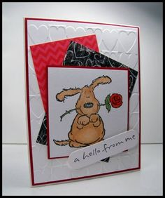 SC419 Hello From Me by Scraperwannabe - Cards and Paper Crafts at Splitcoaststampers