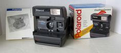 Polaroid One Step Close Up Camera In Original Box With Instructions 600 Flash  #Polaroid
