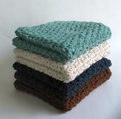 Four Free~~Easy Crochet Dishcloths/Hand Towels Patterns. Could modify to make a bib, maybe?