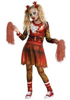halloween zombie cheerleader costume  makeup tutorial