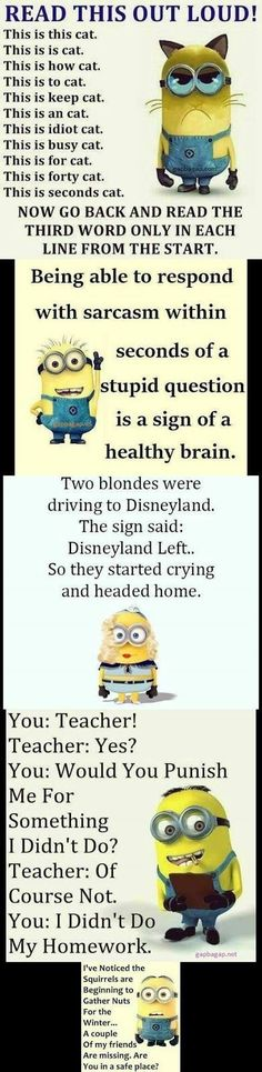 Top 5 #Funny #Minion #Quotes..... - Minions, Quotes, Sayings
