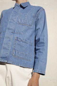 Caron Callahan Krasner Jacket in Blue Denim