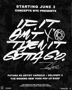 #Thisfunktional #Fashion: #TheWeeknd and #Futura2000 announce the #Third and #Final delivery of the #FuturaXO #ArtistCapsule #Collection at #Concepts #NYC located at 225 Hudson Street from June 3 through June 7. The collection was #Produced in #Partnership with #Bravado #UMG's leading #Merchandise and #Brand management company. #ThisfunktionalFashion #ThisfunktionalMusic #Music #Weeknd #Futura #Rap #NewYork #NY http://ift.tt/1MRTm4L