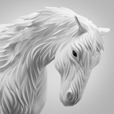 """Digital Animal Sculptures  Maxim Shkret is a Russian digital artist and graphic designer. In his series entitled """"Wolf & Hoof"""", the artist offers portraits of animals whose treatment gives them a sculptural shape in three dimensions. To discover in the rest of the article."""
