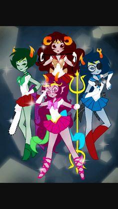 Sailor moon feferi-kanaya-vriska-aradia