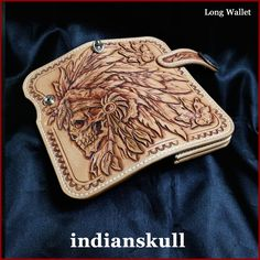 Rakuten: Three points of bikies wallet long wallet set 深彫 り carving wallet scull Indians Cal -013- Shopping Japanese products from Japan