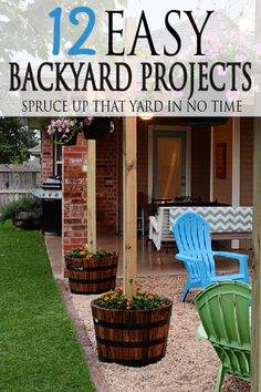 Tired of looking at your drab backyard space? Wishing you had a little more oomph? Low on funds? You're in the right space! Check out these 12 DIY Easy backyard projects!