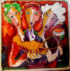 THE ART OF LAURENS BARNARD (LAUBAR)Barnard's bright colors and whimsical brush strokes consort on canvas to create a winsome portrait of an adorned woman. Portrait, Canvas, Painting, Art Art, Behance, Decor, Art, Behavior, Dekoration