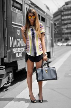 CAMICIA STAMPA FOULARD & SHORT - OUTFIT OF THE DAY - Fashion blogger