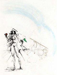 Ronsard Suite: The Angler | Salvador Dalí, Ronsard Suite: The Angler (1968)