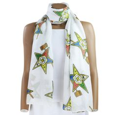 "A long scarf for those sistars that have earned the title ""Past Matron"". This lightweight scarf is adorned with the symbol for a Past Matron. Would make a great gift for yourself or for the Past Matrons in your Chapters who have sacrificed and done their part to help make their Chapter great! #easternstar #orderoftheeasternstar #freemasonry #sistar #pastmatron..."