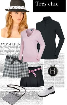 """""""Pink & Black Golf"""" by golf4her on Polyvore"""